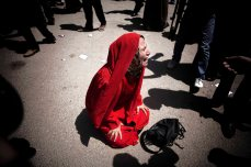 The mother of one of the young boys killed by the Army in Port Said reacts to In the parking lot outside the Police Academy, the crowd initially exploded with cries of joy and praying at news of Mr. Mubarak's life sentence. MAYSUN