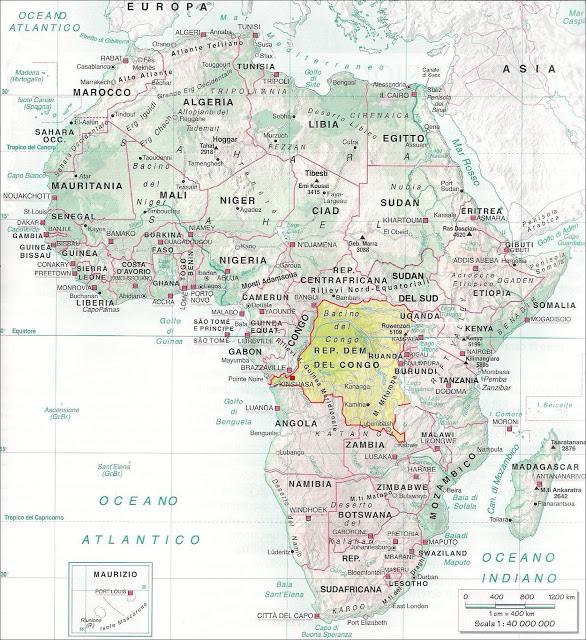 Repubblica Democratica del Congo posizione